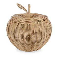 Large Apple Rattan Storage Basket