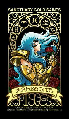 Card Pisces Aphrodite by blackwing-dias on DeviantArt - Carta Afrodite de Peixes por blackwing-dias em DeviantArt Aphrodite, Knights Of The Zodiac, Desu Desu, Digimon Adventure Tri, Manga Games, Anime Style, Sagittarius, Canvas, Pop Art
