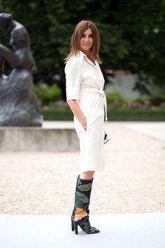 Carine Roitfeld - Street Style Fall 2014
