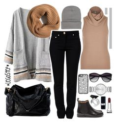 """""""Cozy winter"""" by legostep ❤ liked on Polyvore featuring J.Crew, River Island, Moschino, MANGO, Vince Camuto, Marc by Marc Jacobs and Casetify"""