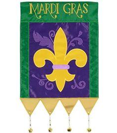 Mardi Gras Jingle Fleur De Lis Garden Flag