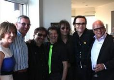 L-R Hanora ODea Kilkenny, Consul General Noel Kilkenny, Blue Oyster Cults Joe and Albert Bouchard, R and R Hall of Famer from Alice Cooper Group Dennis Dunaway, Joe Hurley, Thomas Bahler associate producer and arranger of We Are The World