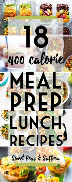 Healthy meal prep lunches that are 400 calories or under, and will keep you feeling full! All calories calculated for you. Healthy meal prep lunches that are 400 calories or under, and will keep you feeling full! All calories calculated for you. 400 Calorie Lunches, Meals Under 400 Calories, No Calorie Foods, 500 Calorie Diets, 1200 Calorie Meal Prep, Vegetarian Recipes Under 400 Calories, 400 Calorie Dinner, Lunch Meal Prep, Meal Prep Bowls