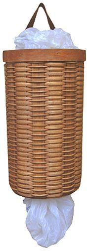 Plastic Bag Dispenser Basket - Kruenpeeper Creek Country Gifts. Creative Basket ideas. #Creative baskets ideas #Creative# Bag dispenser Basket