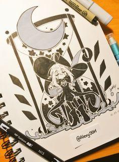Inktober Day 7: Little Witch