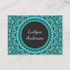 Shop Turquoise Flower Mandala Business Card created by ZyddArt. Elegant Business Cards, Business Card Design, Hairstylist Business Cards, Turquoise Flowers, Flower Mandala, Teal Colors, Print Templates, Graphic Design, Floral