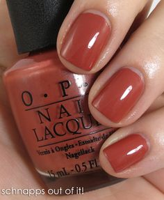 Vedo ro opi schnapps out of it nl pretty nail colors for winter Opi Nail Colors, Pretty Nail Colors, Fall Nail Colors, Pretty Nails, Manicure Y Pedicure, Mani Pedi, Colorful Nail Designs, Opi Nails, Nails Inspiration