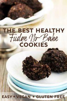 Healthy Fudge, Healthy Cookie Recipes, Healthy Gluten Free Recipes, Gluten Free Baking, Healthy Dessert Recipes, Gluten Free Desserts, Vegan Desserts, Vegan Recipes, Fudge Recipes