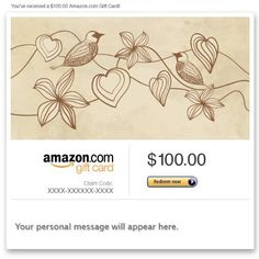 Amazon Gift Card - Email - Love Birds  Read more http://cosmeticcastle.net/gift-cards/amazon-gift-card-email-love-birds  Visit http://cosmeticcastle.net to read cosmetic reviews
