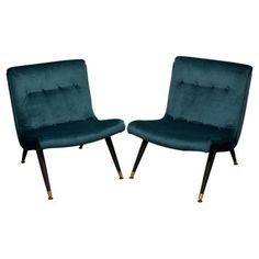 Check out this item at One Kings Lane! Scoop Chairs Attr. to Milo Baughman, S/2