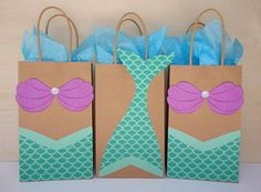 Mermaid Favor Bags/ Mermaid Party/ Mermaid Birthday/ Mermaid