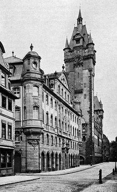 old Postcard of Frankfurt before World War II