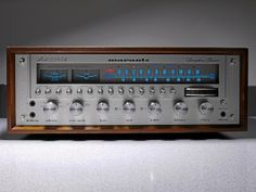 1977  This receiver Model 2285B is a pure power machine with 85 watt per channel. I've got it including the optional wood cabinet. The receiver and the cabinet needed a little restoring, now it sounds so well. A marantz typical oversized transformer g