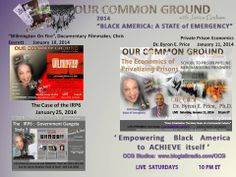 Coming UP on OUR COMMON GROUND January, 2014