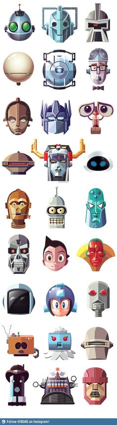 Famous robots. Ahhhh the second one! Cyberman!