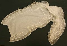 Metropolitan Museum: cuello o collar de EEUU de algodón de 1800-20 (Inventario: 1976.60.14)