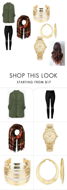 """""""<3"""" by katiemcgee1972 on Polyvore featuring Zara, Steve Madden, Michael Kors, WithChic, Ross-Simons, women's clothing, women, female, woman and misses"""