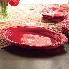 ¡Grande, hermosa . y súper práctica! ¡Nuestra Bandeja color vino Pavillion lucirá deslumbrante, ya sea que la uses para hornear, asar o servir! #Asar #Hornear #servir #Bandeja #Pavillion