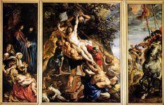 L ERECTION DE LA CROIX - 1609-1611 #rubens #toile #peinture #painting #anvers #croix #art #flamand #maitre #master #baroque #1609 #tryptique