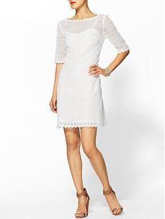 State lace tiered mini dress