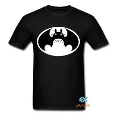 7aeb0a3721 My Neighbour Totoro t shirt VS batman tshirt mashup harajuku Unisex anime Top  brand clothing Men