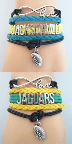 Infinity Love Jacksonville Football - Show off your teams colors! Cutest Love Jacksonville Bracelet on the Planet! Don't miss our Special Sales Event. Many teams available. www.DilyDalee.co