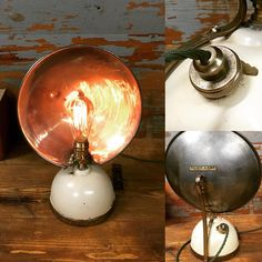 This 1950's paraffin lamp made by Tilly of England has been converted to electric and fitted with an Edison bulb and green vintage style cord and dimmer switch giving it a stunning affect. #stesupcycleworkshop #tillylamp #tablelamp #edisonbulb #vintagelamp #interiordesign #homedecor #vintage
