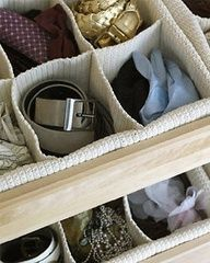 Keep your accessories neat and tidy with this nine-compartment drawer insert.