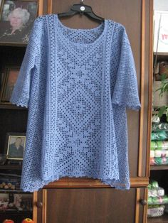 Made to order summer women crochet blouse. Tunica . Linked