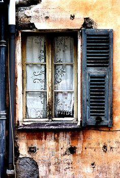saorge french window :: reminds me of the view out our hotel window in avignon :-)