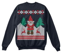 Funny Christmas Jumpers French Navy Sweatshirt Front