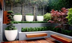 built in planter boxes