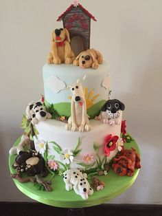 A very special cake designed and created by Yamuna Silva of Yami Cakes, Kotte, Sri Lanka for all you dog lovers