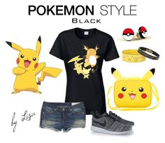 """""""Pokemon Style"""" by coolmommy44 ❤ liked on Polyvore featuring York Wallcoverings, rag & bone, NIKE, Pokemon and pokemonstyle"""