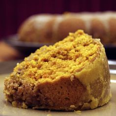 Indian Spiced Coffee Cake -- This moist sour cream coffee cake gets it's bright color and bold flavor from turmeric and cardamom! Banana Dessert, Dessert Bread, Dessert Drinks, Dessert Recipes, Desserts, Homemade Cherry Pies, Sour Cream Coffee Cake, Spiced Coffee, Wedding Cake Flavors