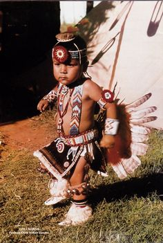 Little Nonnie  Pawnee Otoe Indian dancer. Wow,  I remember this pic on a postcard when I was a little girl.