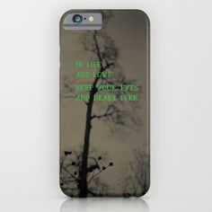Open iPhone & iPod Case, quote, gray, green, love phone case