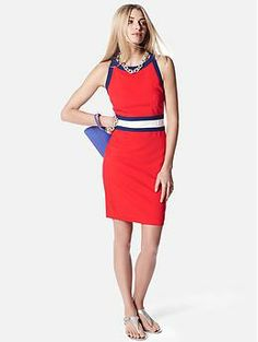 Definitely need to add this sporty, patriotic dress to my work wardrobe! Banana Republic
