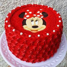 Mini Mouse Cake, Minnie Mouse Birthday Cakes, Birthday Wishes Cake, Frozen Birthday Cake, Mickey Cakes, Themed Birthday Cakes, Themed Cakes, Whipped Cream Cakes, Buttercream Cake Decorating