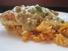 Mexican Chicken with Jalapeno Popper Sauce and Chili Powder-Scented Rice