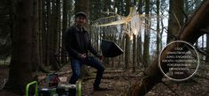 We love to work in a natural and atmospheric surrounding. Making of: #high #quality #shooting #forest #wood #crystals #unique #design #root #chandelier