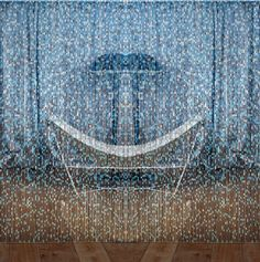 Nieve de noche.  Kriskadecor #curtain  Claire Davies #design Metal Mesh, Metal Chain, Curtain Designs, Mosaic Designs, Room Set, Metal Walls, Room Inspiration, Claire, City Photo