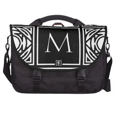 Framed Monogram Laptop Computer Bag