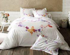 linge de lit papillons