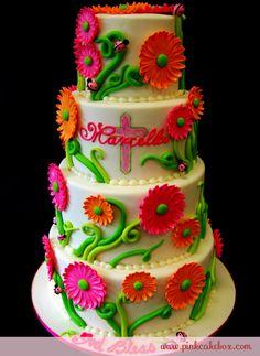 Whimisical Baptism Cake by Pink Cake Box
