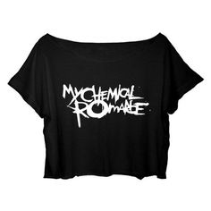 ASA Women's Crop Top My Chemical Romance Shirt Rock Band MCR T-shirt ❤ liked on Polyvore featuring tops, t-shirts, rock t shirts, rock tees, cropped tops, shirt crop top and cut-out crop tops