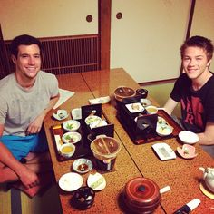 Falling Skies' Drew Roy and Connor Jessup in Tokyo via @drew_roy
