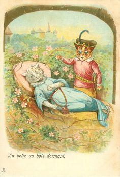 Sleeping Beauty   by Louis Wain