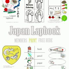 Our Japan lapbook is available free to our newsletter subscribers.  This is a large file and includes a Cover page, Notebooking pages, Hiragana flashcards and flap books, Japanese flag minibooks, K…
