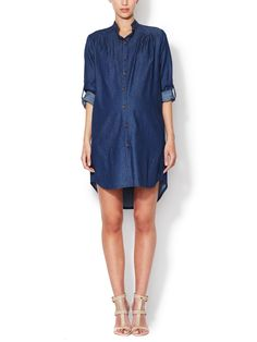 Denim Tunic Shirtdress by Alex + Alex Maternity at Gilt